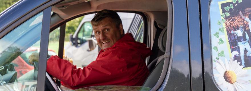 Ed in the van